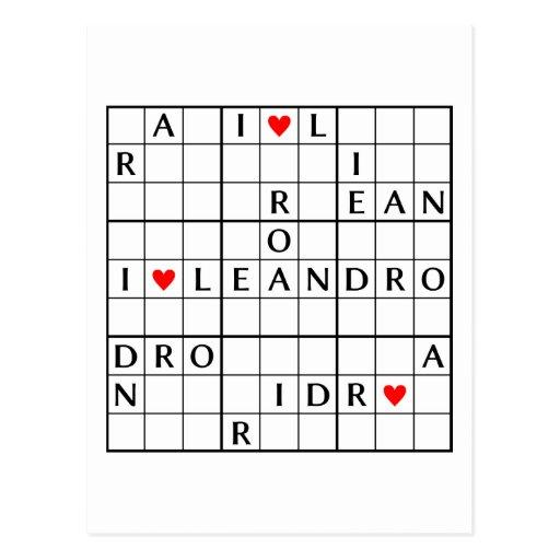 I♥LEANDRO POSTCARD