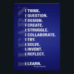 """I Learn (Blueprint Style) Poster<br><div class=""""desc"""">Because learning is more than just a word.</div>"""