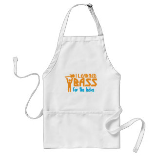 I learned bass for the ladies adult apron