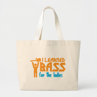 I learned bass for the ladies canvas bag
