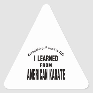 I Learned From American Karate. Triangle Sticker