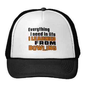 I learned From Bowling Trucker Hat