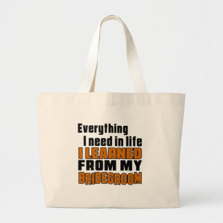 I Learned From Bridegroom Jumbo Tote Bag