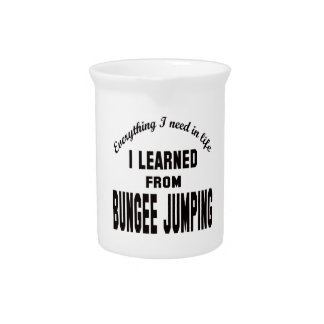 I Learned From Bungee Jumping. Drink Pitcher