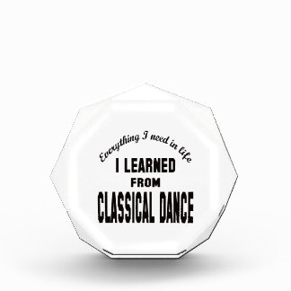 I Learned From Classical dance. Award