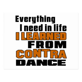 I Learned From Contra Dancing Postcard