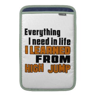 I learned From High Jump MacBook Sleeve