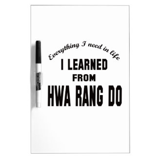 I Learned From Hwa Rang Do. Dry-Erase Whiteboards