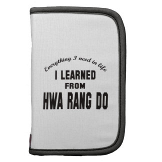 I Learned From Hwa Rang Do. Organizer