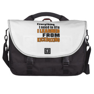 I learned From Kick Boxing Laptop Computer Bag