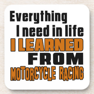 I learned From Motorcycle Racing      Motocross Beverage Coasters