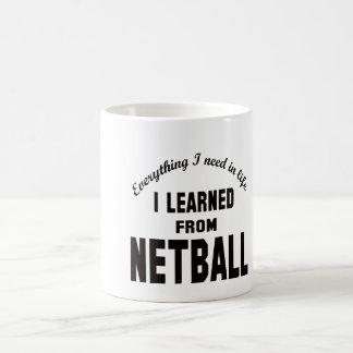 I Learned From Netball. Coffee Mug