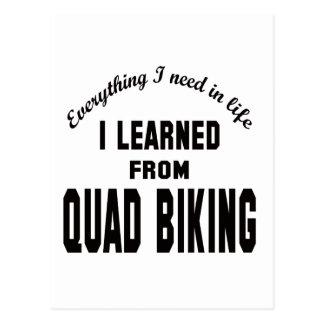 I Learned From Quad Biking. Postcard