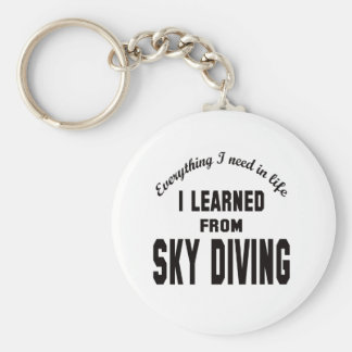 I Learned From Sky Diving. Keychain