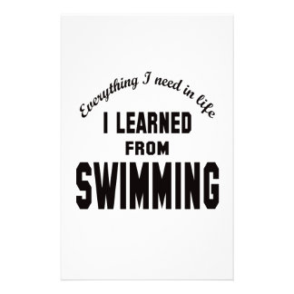 I Learned From Swimming. Stationery