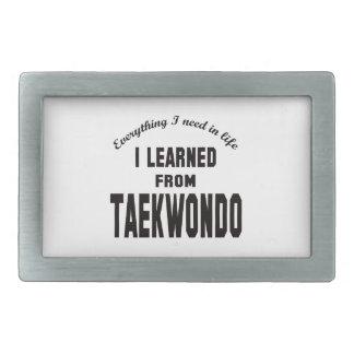 I Learned From Taekwondo. Rectangular Belt Buckles