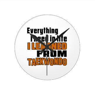 I learned From Taekwondo Round Wallclock