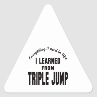 I Learned From Triple Jump. Triangle Sticker