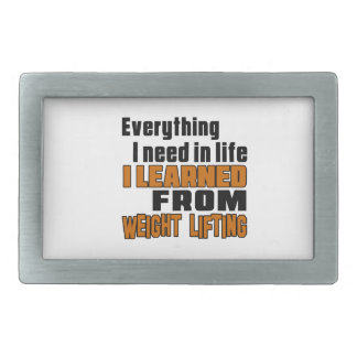 I learned From Weight Lifting Rectangular Belt Buckle