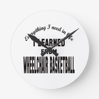 I Learned From Wheelchair basketball. Wall Clocks
