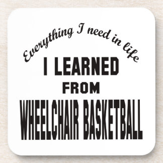 I Learned From Wheelchair basketball. Coasters