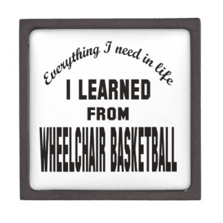 I Learned From Wheelchair basketball. Premium Trinket Boxes