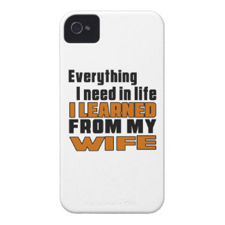 I Learned From Wife iPhone 4 Case-Mate Cases