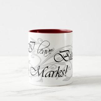 I Leave Bite Marks Two-Tone Coffee Mug
