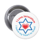 I Leave my heart in Israel - I love Jerusalem 2 Inch Round Button