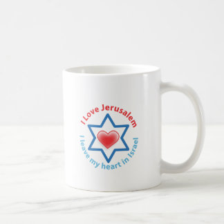 I Leave my heart in Israel - I love Jerusalem Coffee Mug