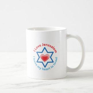 I Leave my heart in Israel - I love Jerusalem Coffee Mugs