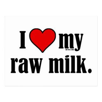 I leche cruda del corazón postal