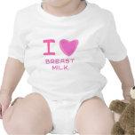 I leche materna del corazón (amor) traje de bebé