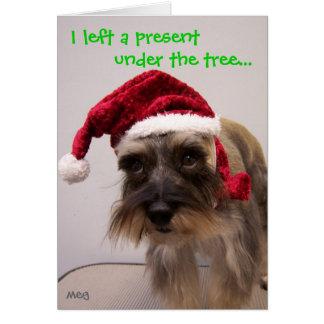 I left a present... card