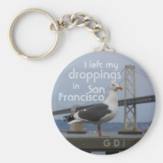 I left my droppings in San Francisco Basic Round Button Keychain