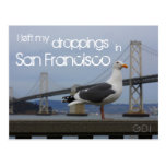I left my droppings in San Francisco Post Cards