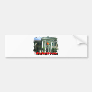 I Left My Heart At Graceland Car Bumper Sticker