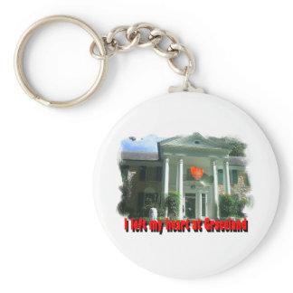 I Left My Heart At Graceland Keychain