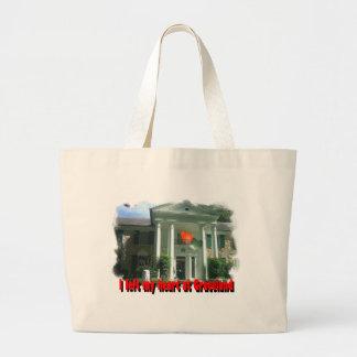 I Left My Heart At Graceland Large Tote Bag