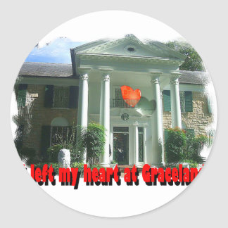 I Left My Heart At Graceland Classic Round Sticker