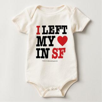 I Left My Heart Baby Bodysuit