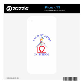 I Left My Heart Decal For The iPhone 4