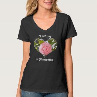 I Left My Heart Huntsville Alabama Pink Camellia T-Shirt