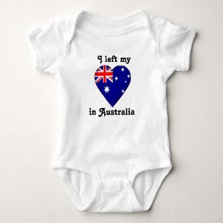 I left my heart in Australia Baby Bodysuit