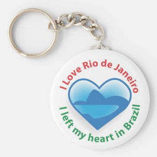 I Left My Heart in Brazil - I Love Rio de Janeiro Keychain