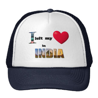 I left my heart in India-Love Gift Couple Cap Hat