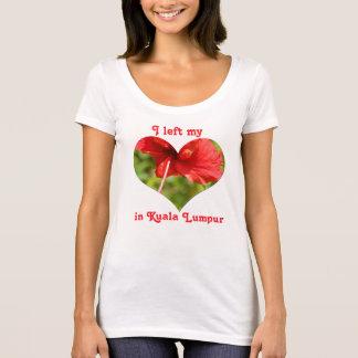 I Left My Heart in Kuala Lumpur Malaysia Hibiscus T-Shirt
