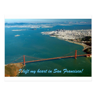 I left my heart in San Francisco Postcard