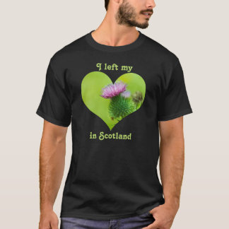 I Left My Heart in Scotland Thistle Purple Green T-Shirt