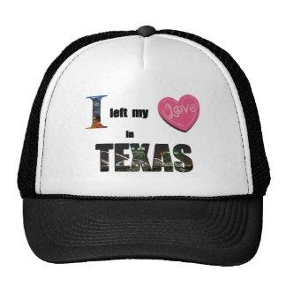 I left my heart in Texas - Love Gift Cap Hat